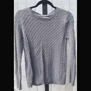 Gray sweater with silver threaded